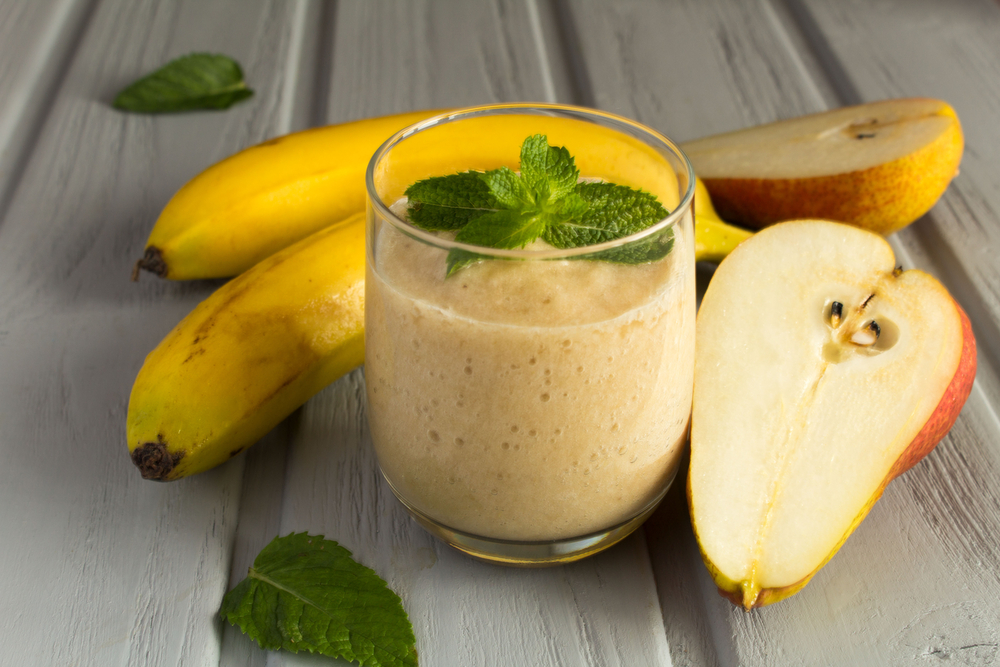 香蕉梨果汁