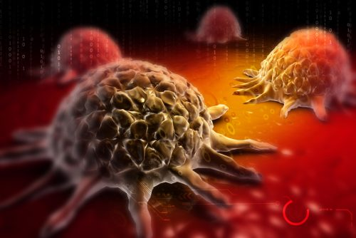 Cancer-cell-in-colour-background
