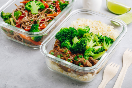 Meal prep with rice