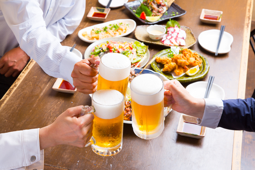 Alcohol and food