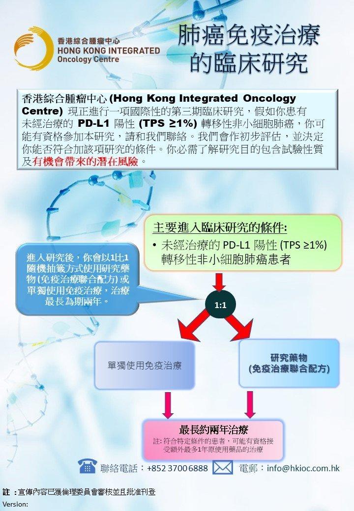 肺癌免疫治療的臨床研究